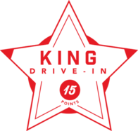 King Drive-In badge